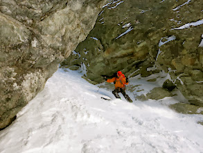 Photo: Henkka cruising out from the narrow bit.