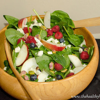 Apple Berry Spinach Salad