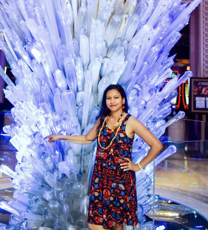 Vibhuti Agarwal | Posing with crystals | Microinfluencers with High Engagement Rates Featured on Afluencer