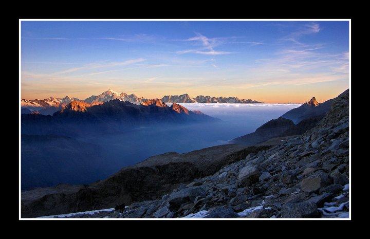 Alba sul Monte Bianco di Yanez