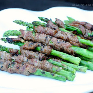 Korean Beef Wrapped Asparagus