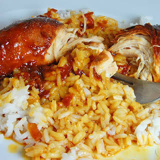 Apricot and French Dressing Crock Pot Chicken.