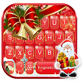 Red Christmas1 Keyboard Theme