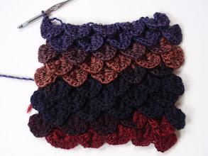 Photo: http://www.jennlikesyarn.com/2011/03/work-in-progress-crocodile-stitch-scarf.html