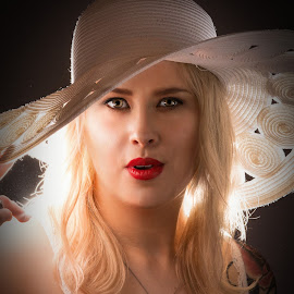 Hatted up by Gary Bradshaw - People Portraits of Women