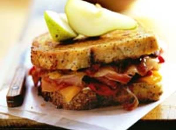 This Ham And Cheese Sandwich Has Sweet Fruit Fillers, Which Makes It Appealing To Kids.