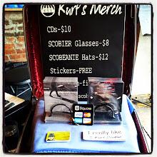 Photo: A mini merch setup at Radio Bean in Burlington, VT.