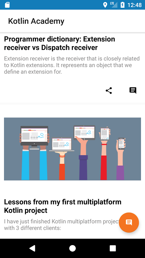 Kotlin Academy news- screenshot
