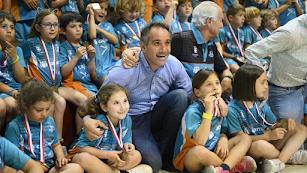 Juanjo Segura en la foto de familia.
