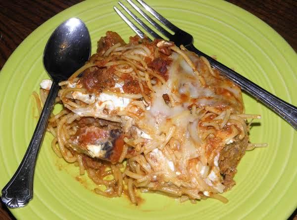 Spaghetti Lasagna Bake