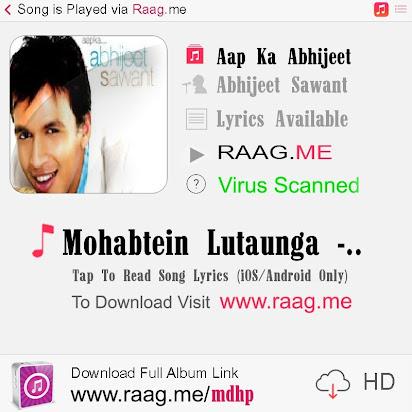 Mohabbatein lutaunga mp3 download