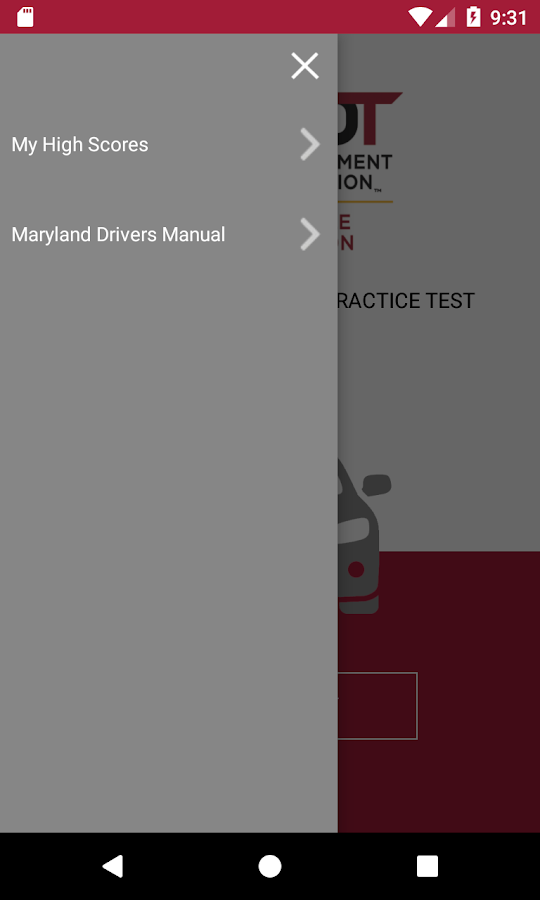 MD Practice Driving Test- screenshot