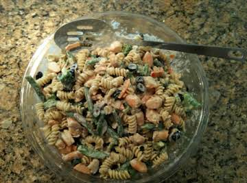 Shrimp Stir Fry Pasta Salad