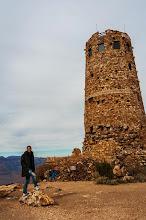 Photo: Daniele at the Desert View Watchtower, South Rim of Grand Canyon Nation Park, Arizona, USA