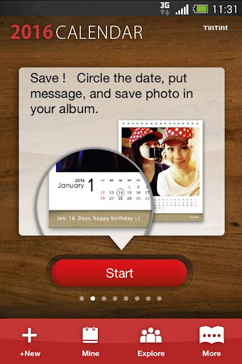 TinTint 2016 Calendar