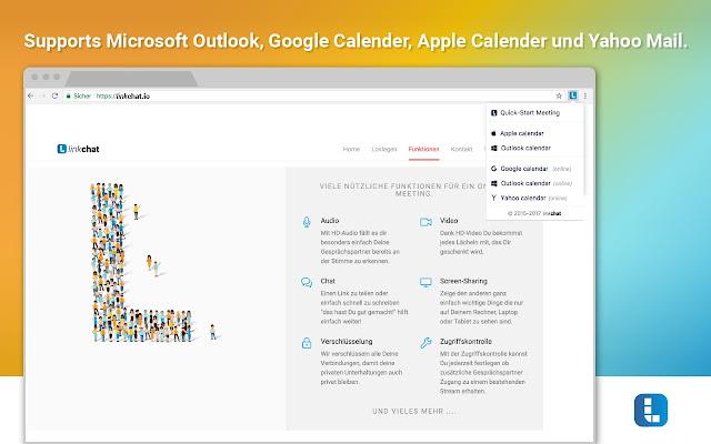 linkchat Screen Sharing & Calendar Add-on