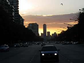 Photo: Night falls on Buenos Aires