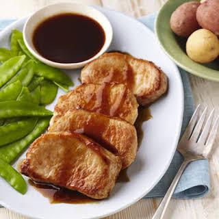 Maple-Balsamic Glazed Pork Chops.
