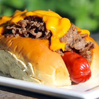Philly Cheesesteak Dog.
