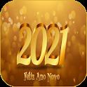 Mensagem de Feliz ano novo 2021 cartões saudações icon