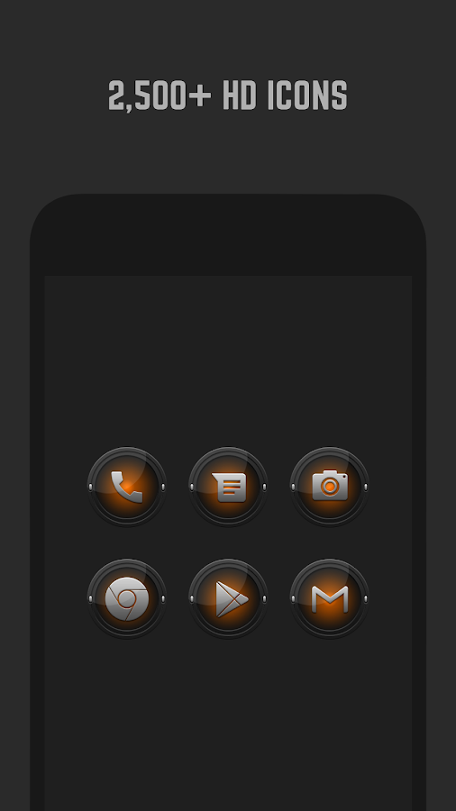 Black and Orange Icon Pack- screenshot