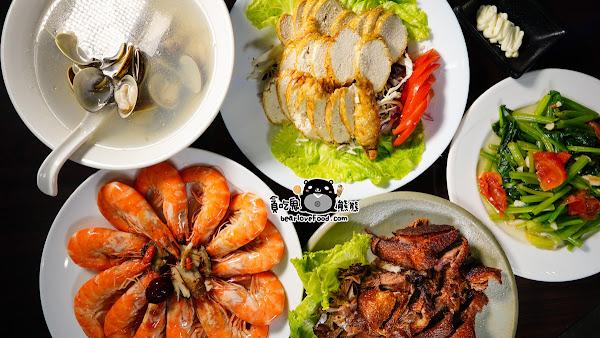 蝦的專家專賣,吃串燒熱炒再乾一杯-甲蝦えび燴熱炒燒烤吧