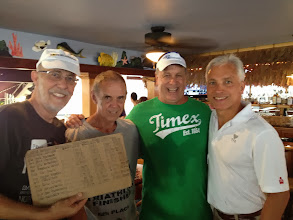 Photo: Frank Day(8th), Tom Knoll (6th), and Dave Orlowski (3th) and original Ironman finishers from 1978