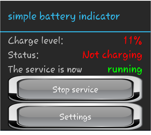 simple battery indicator