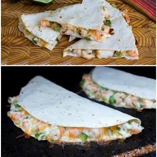Shrimp and Jalapeño Quesadilla