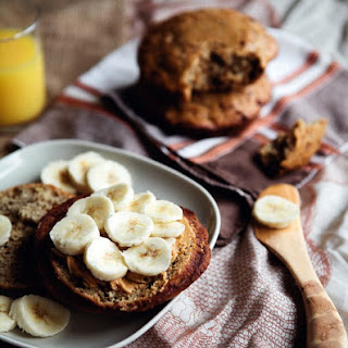 Banana Muffin Tops with Scottish Oats.