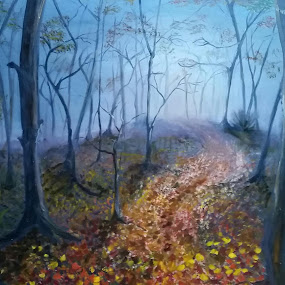 Autum mystery by Natascha Trainor - Painting All Painting