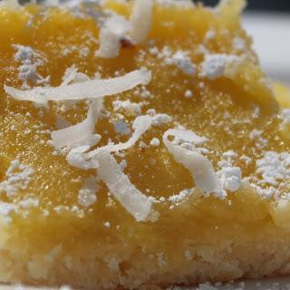 Coconut Lemon Pie or Lime Square