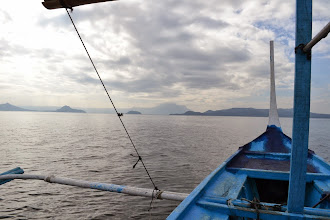Photo: On our way to Taal island
