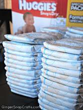 Photo: When I got home I set to work on my diaper cake!
