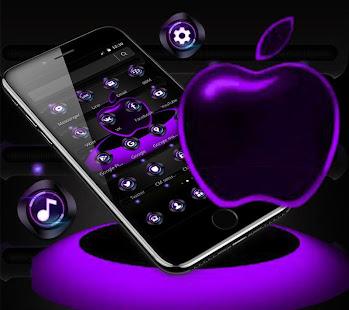 App Violet Neon Apple Tech Theme APK for Windows Phone