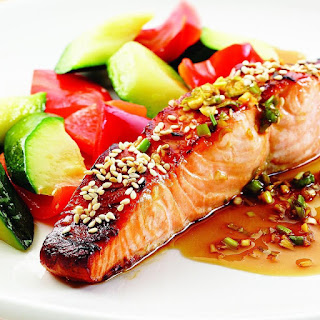 Honey-Soy Broiled Salmon.
