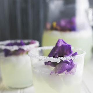 Meyer Lemon Margarita + Floating Pansies