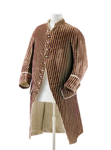Striped Men's Jacket with Plush Lining