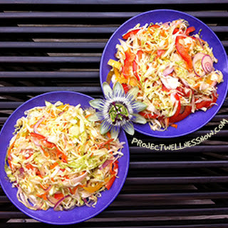 Simple And Delicious Green Cabbage Salad.