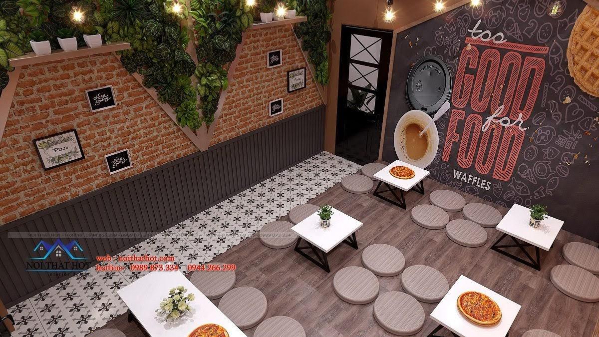 thiết kế cửa hàng pizza bau's 16