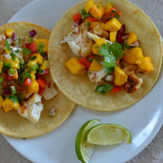 Baked Fish Tacos with Mango Salsa