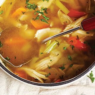 Comforting Chicken and Rice Soup.