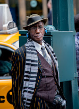 Photo: I don't normally shoot people but when I saw this gentleman standing outside Grand Central in New York I just had to take a picture. I just really liked his look, so many lines and patterns. Normally I might convert this type of image to black and white, but I think in this case the color of his pinstripes, headphones, tie, etc. add to the interest. In black and white this information wouldn't stand out as much.  #BreakfastClub curated by +Gemma Costa