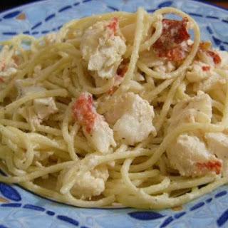 Pasta Alioli With Lobster.