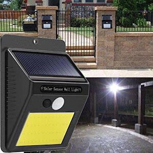 Set 2 x Lampa solara cu senzor de miscare si acumulator, 48 LED