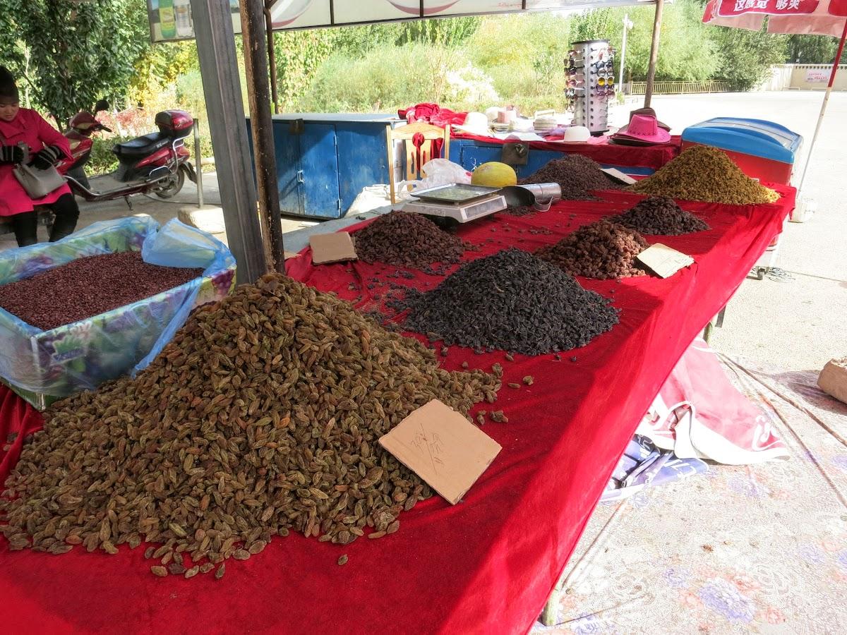 China. Xinjiang Turpan . Raisins For Sale at the Ruins Entrance