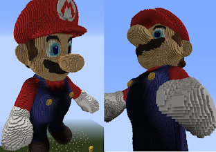 Photo: A 180 meter tall Mario, built by Kevan