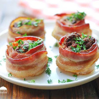 Bacon Wrapped Mini Meatloaves