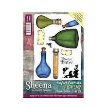Sheena Douglass Perfect Partner Alchemy A6 Stamp Set - Strange Brew UTGÅENDE