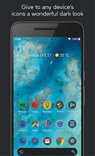 Screenshot for Darkful Icon Pack - Theme for Apex/Nova Launcher in United States Play Store